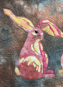 Romeo Bunny raw edge applique quilt pattern