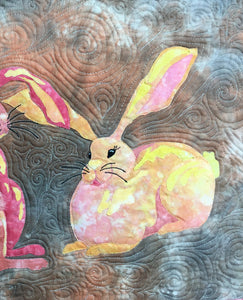 Juliet Bunny raw edge applique quilt pattern