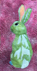 Wellington Bunny raw edge applique quilt pattern