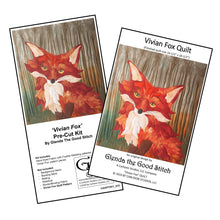 Load image into Gallery viewer, Vivian Fox Applique Quilt PATTERN & PRE-CUT KIT (pattern INCLUDED)