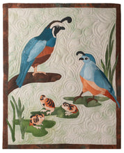 Load image into Gallery viewer, Quail family raw edge applique quilt pattern by Glenda The Good Stitch