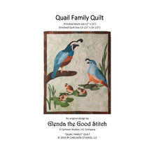Load image into Gallery viewer, Front cover of Quail Family raw edge applique pattern cover by Glenda The Good Stitch