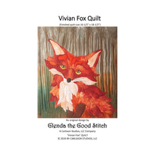 Load image into Gallery viewer, Front cover of Vivian Fox raw edge applique pattern cover by Glenda The Good Stitch