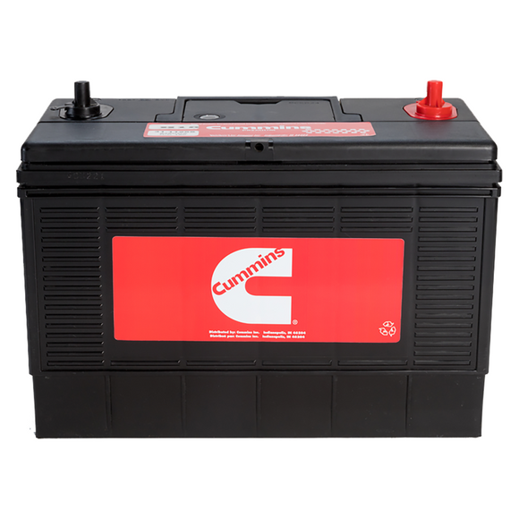 Cummins Group 26 Battery, 500CCA, 75RC, Free Replacement Warranty