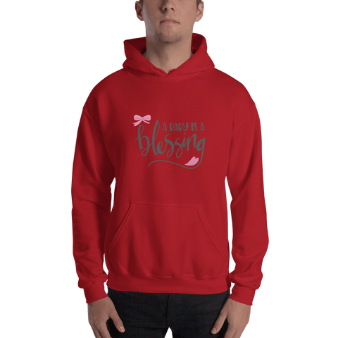Image of a baby is a blessing Hooded Sweatshirt for Men-Marks'Marketplace