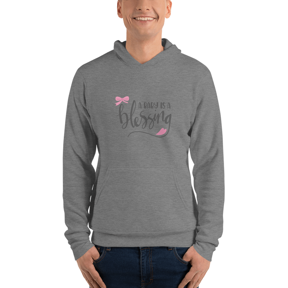 a baby is a blessing hoodie for men-Marks'Marketplace