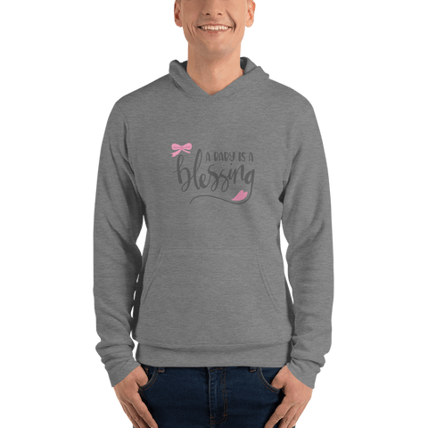 Image of a baby is a blessing hoodie for men-Marks'Marketplace