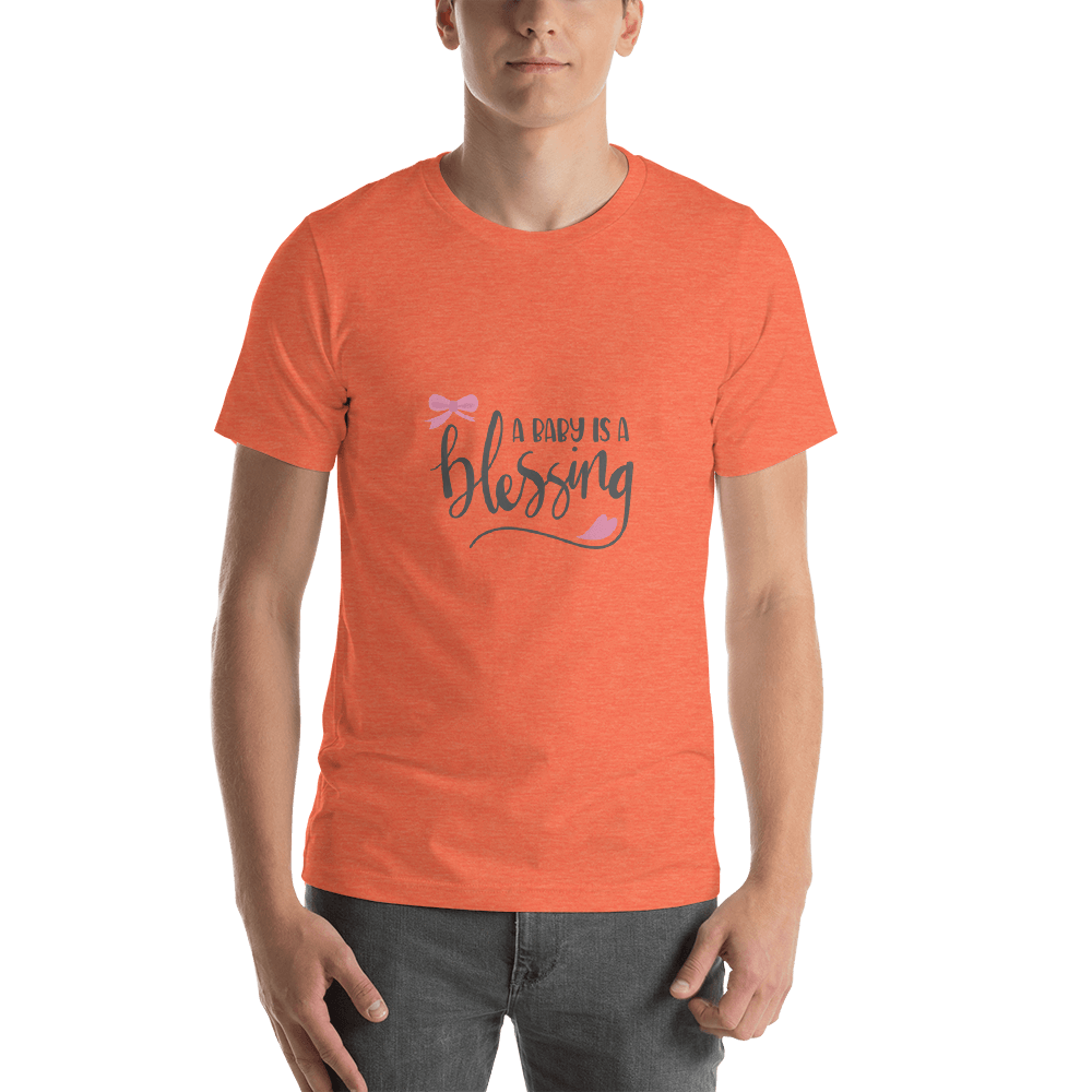 a baby is a blessing Short-Sleeve T-Shirt for Men-Marks'Marketplace