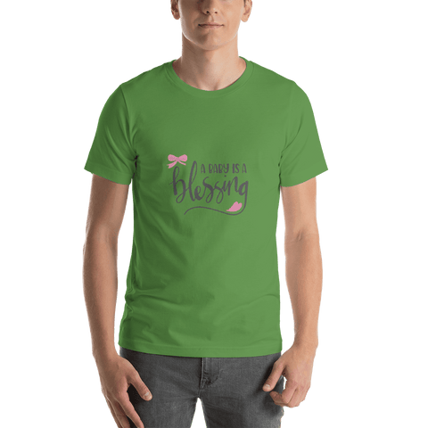 Image of a baby is a blessing Short-Sleeve T-Shirt for Men-Marks'Marketplace