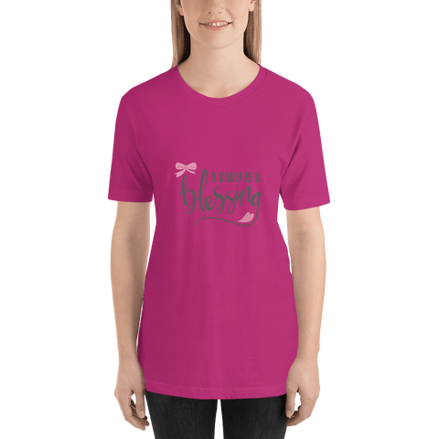 Image of a baby is a blessing Short-Sleeve T-Shirt for Women-Marks'Marketplace
