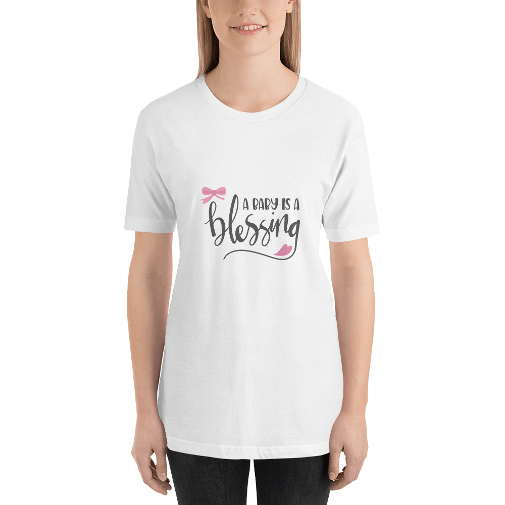 a baby is a blessing Short-Sleeve T-Shirt for Women-Marks'Marketplace