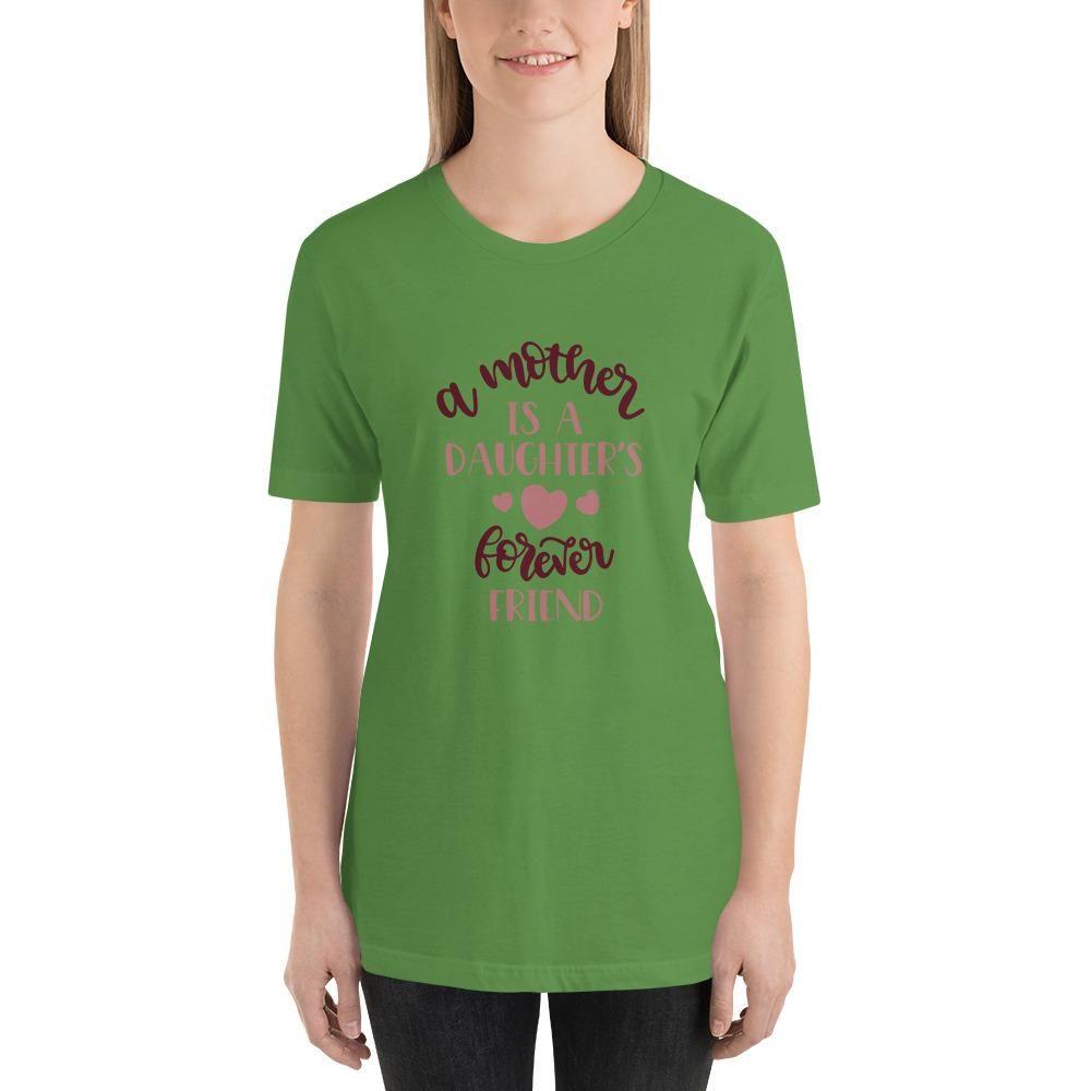 A mother is a daughters's forever friend Women Short-Sleeve Unisex T-Shirt-Marks'Marketplace