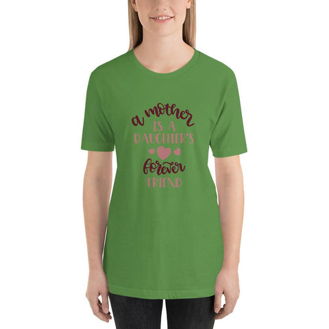 Image of A mother is a daughters's forever friend Women Short-Sleeve Unisex T-Shirt-Marks'Marketplace