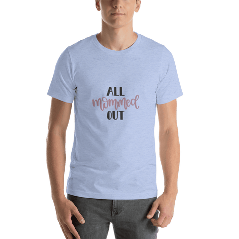 Image of All mommed out Men Short-Sleeve T-Shirt Marks'Marketplace Heather Blue S