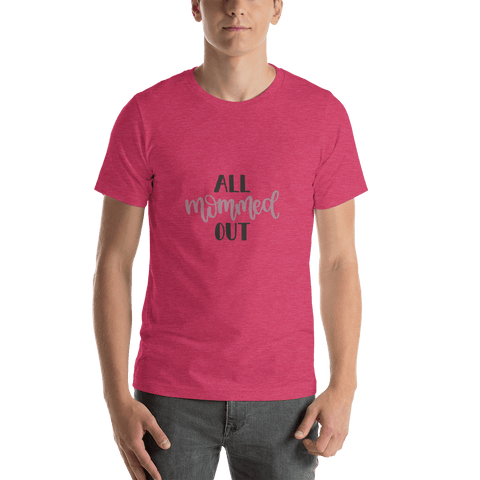 Image of All mommed out Men Short-Sleeve T-Shirt Marks'Marketplace Heather Raspberry S