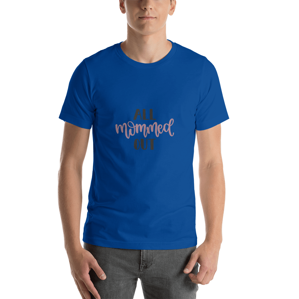 All mommed out Men Short-Sleeve T-Shirt Marks'Marketplace True Royal S