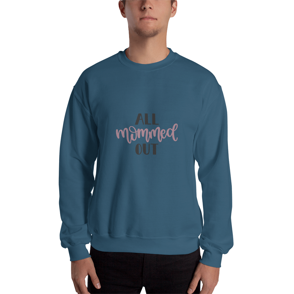 All mommed out Men Sweatshirt Marks'Marketplace Indigo Blue S