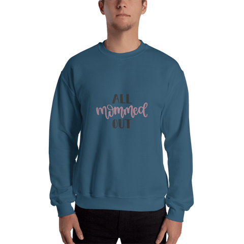 Image of All mommed out Men Sweatshirt Marks'Marketplace Indigo Blue S