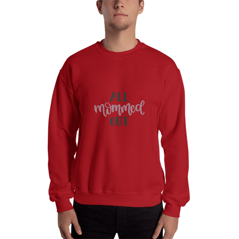 Image of All mommed out Men Sweatshirt Marks'Marketplace Red S