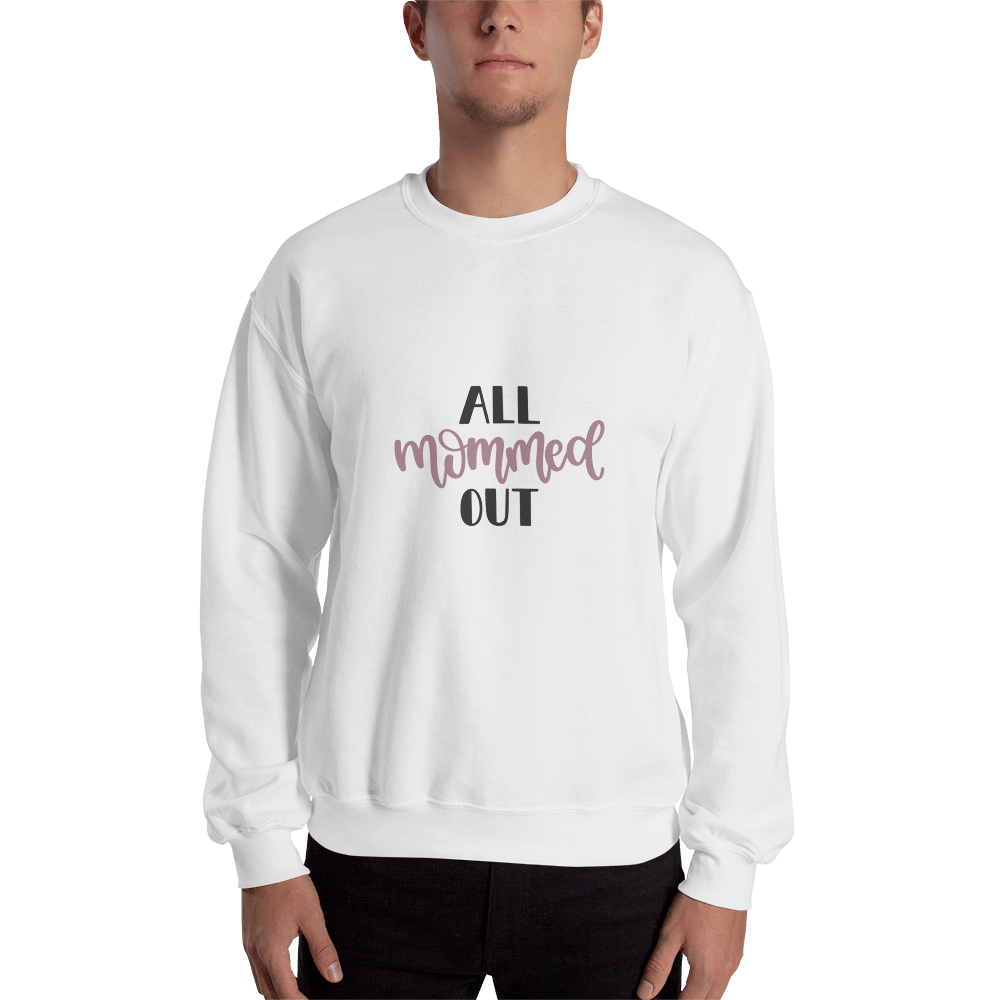 All mommed out Men Sweatshirt Marks'Marketplace White S