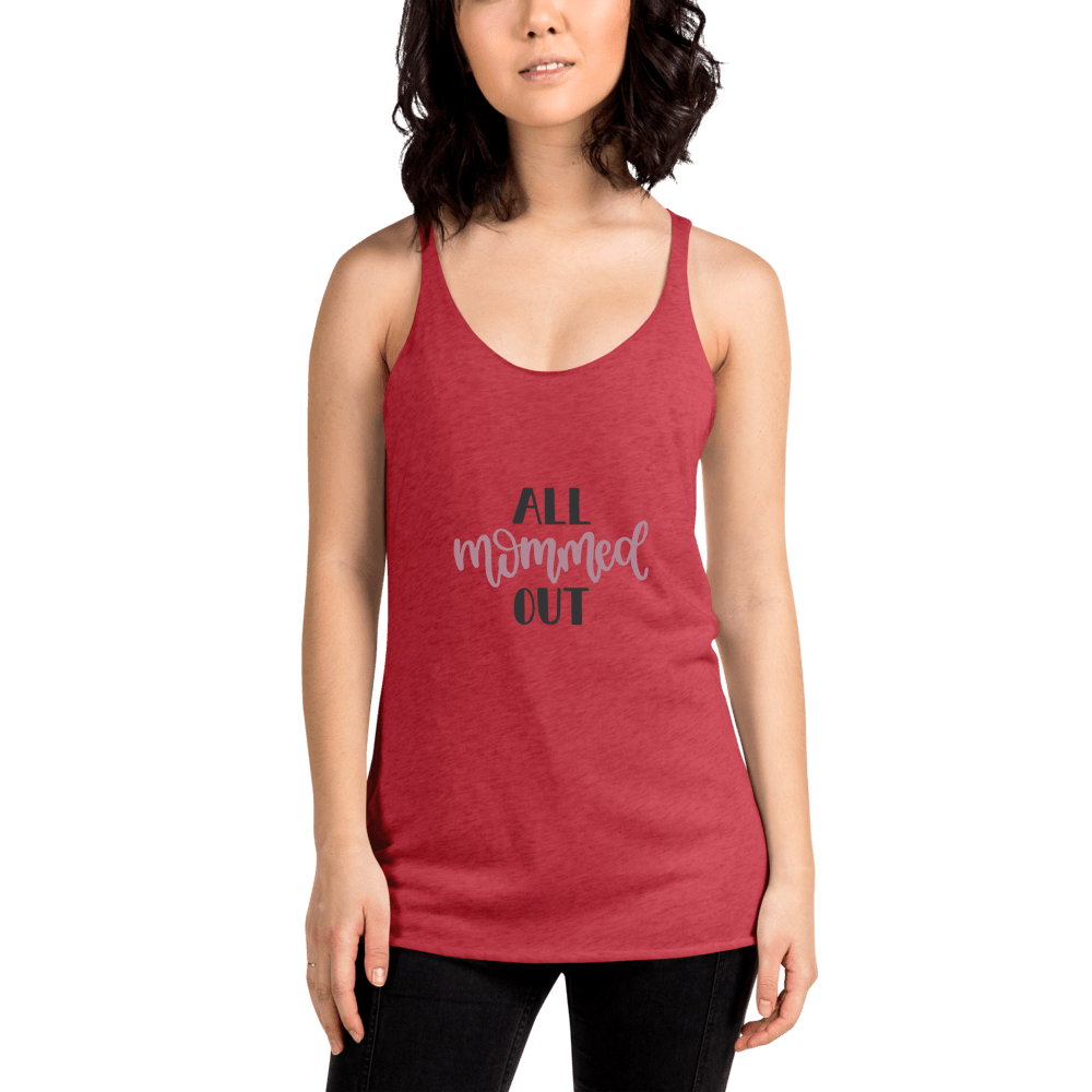 All mommed out Women's Racerback Tank Marks'Marketplace Vintage Red XS