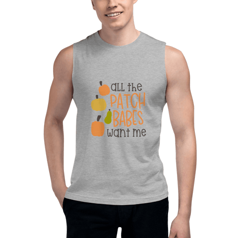 Image of all the patch babes want me Men Muscle Shirt Marks'Marketplace Athletic Heather S