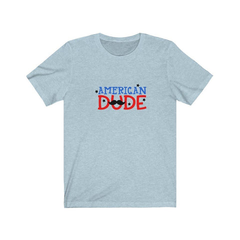 Image of American Dude Tee T-Shirt Printify Heather Ice Blue XS