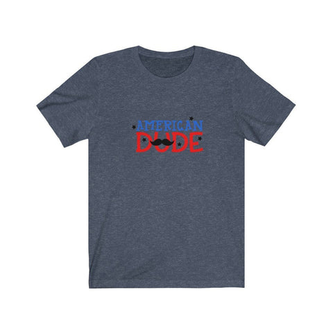 Image of American Dude Tee T-Shirt Printify Heather Navy XS