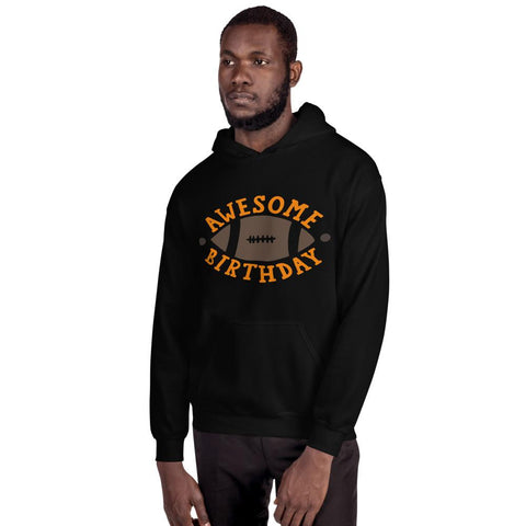 Image of Awesome Birthday Hooded Sweatshirt Marks'Marketplace Black S
