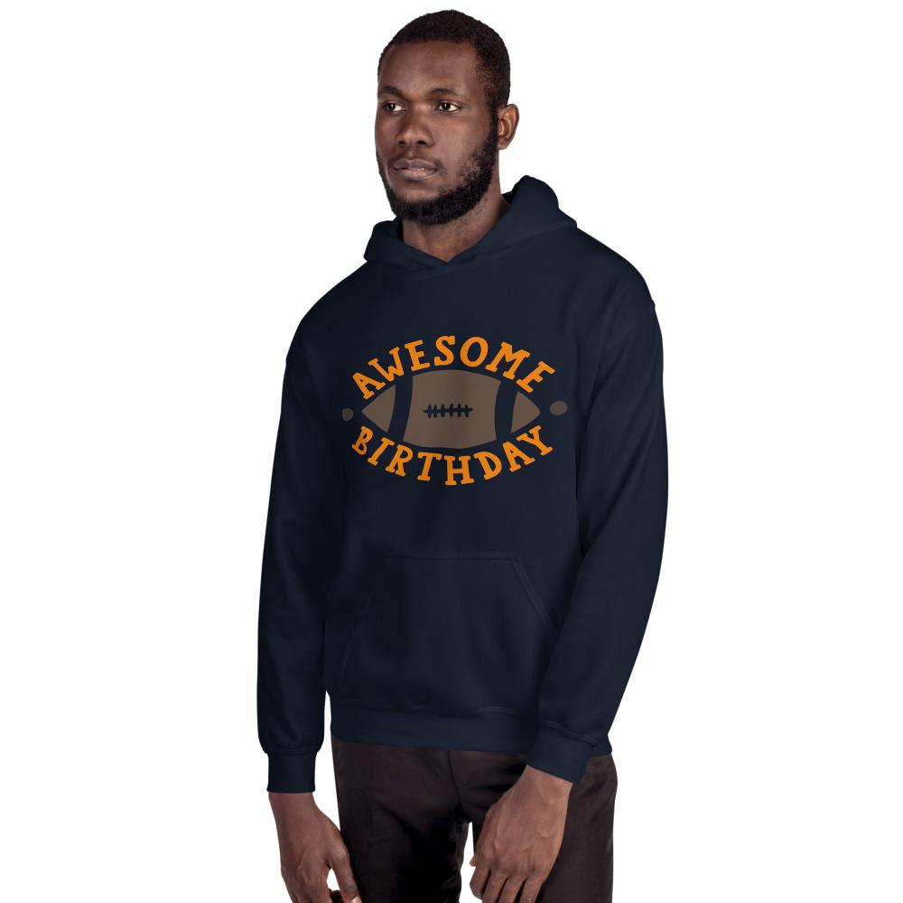Awesome Birthday Hooded Sweatshirt Marks'Marketplace Navy S