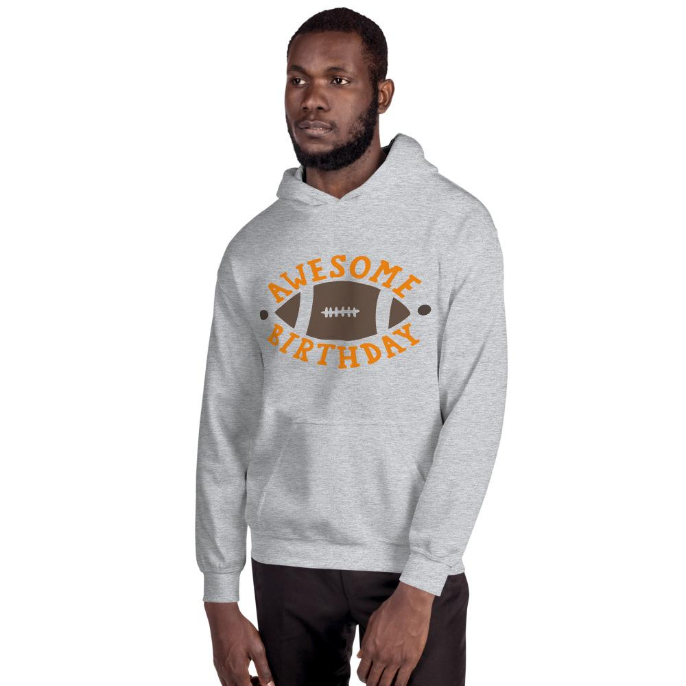 Awesome Birthday Hooded Sweatshirt Marks'Marketplace Sport Grey S