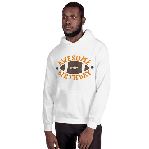 Image of Awesome Birthday Hooded Sweatshirt Marks'Marketplace White S