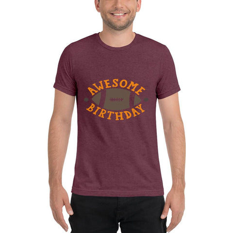 Image of Awesome Birthday Short sleeve t-shirt Marks'Marketplace Maroon Triblend XS