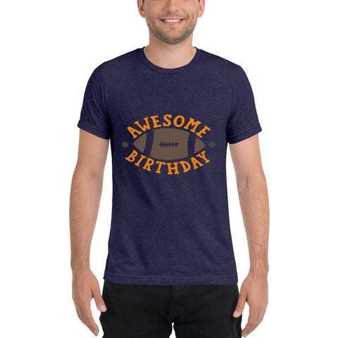 Image of Awesome Birthday Short sleeve t-shirt Marks'Marketplace Navy Triblend XS