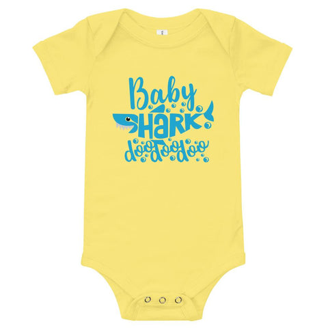 Image of Baby Shark Blue T-Shirt Marks'Marketplace Yellow 3-6m