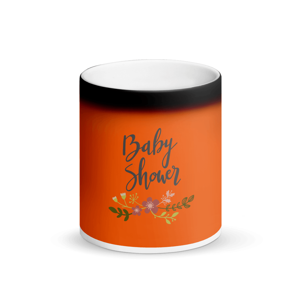 baby shower Matte Black Magic Mug Marks'Marketplace