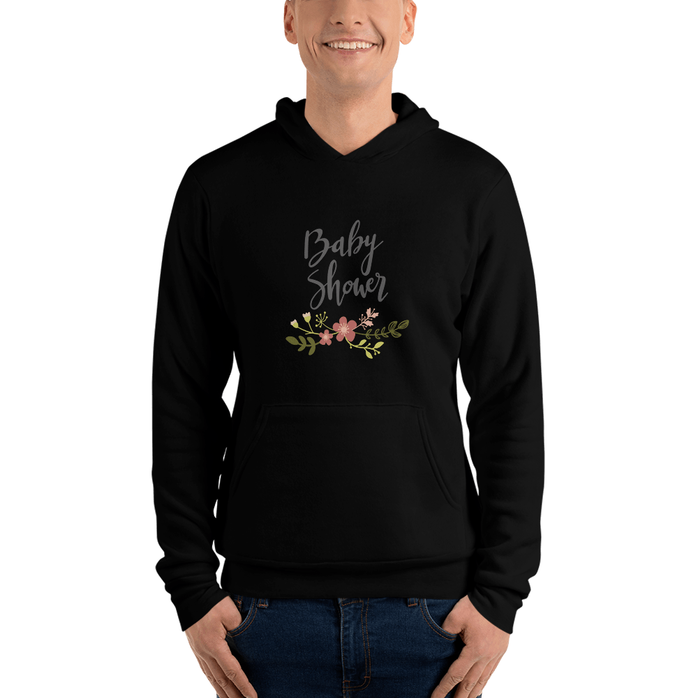 baby shower Men hoodie Marks'Marketplace Black S