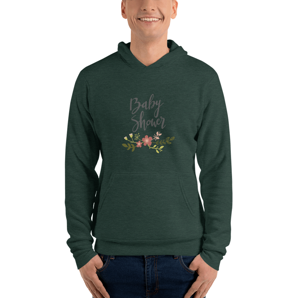 baby shower Men hoodie Marks'Marketplace Heather Forest S