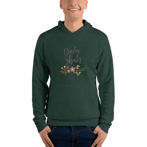Image of baby shower Men hoodie Marks'Marketplace Heather Forest S