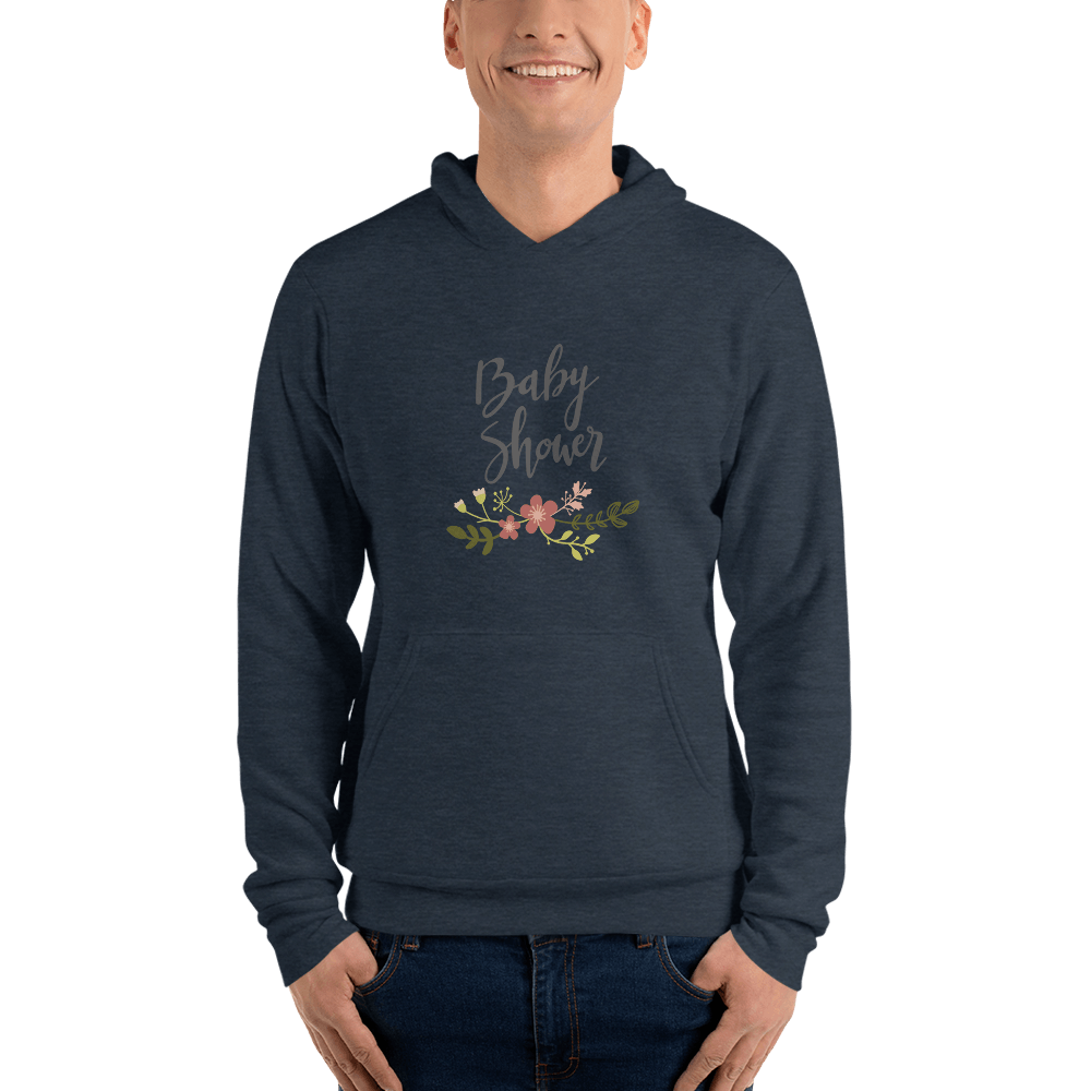 baby shower Men hoodie Marks'Marketplace Heather Navy S