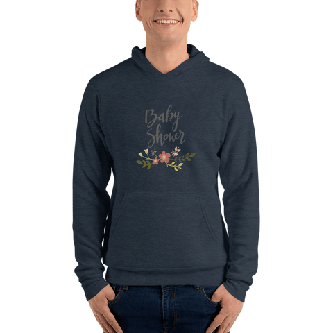 Image of baby shower Men hoodie Marks'Marketplace Heather Navy S