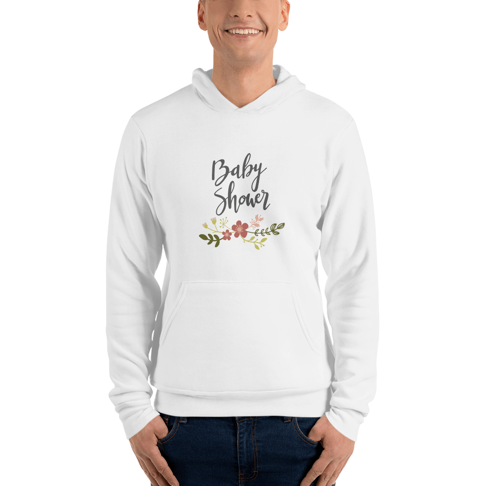 baby shower Men hoodie Marks'Marketplace White S