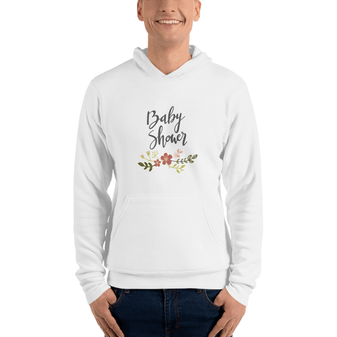 Image of baby shower Men hoodie Marks'Marketplace White S
