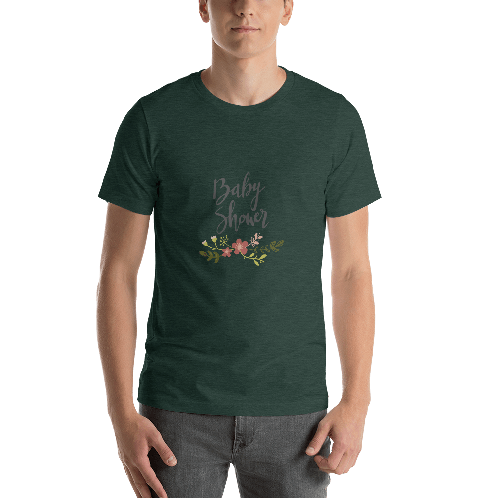 baby shower Men Short-Sleeve T-Shirt Marks'Marketplace Heather Forest S