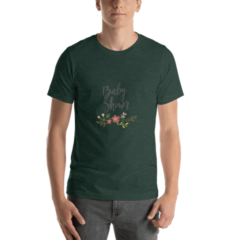 Image of baby shower Men Short-Sleeve T-Shirt Marks'Marketplace Heather Forest S