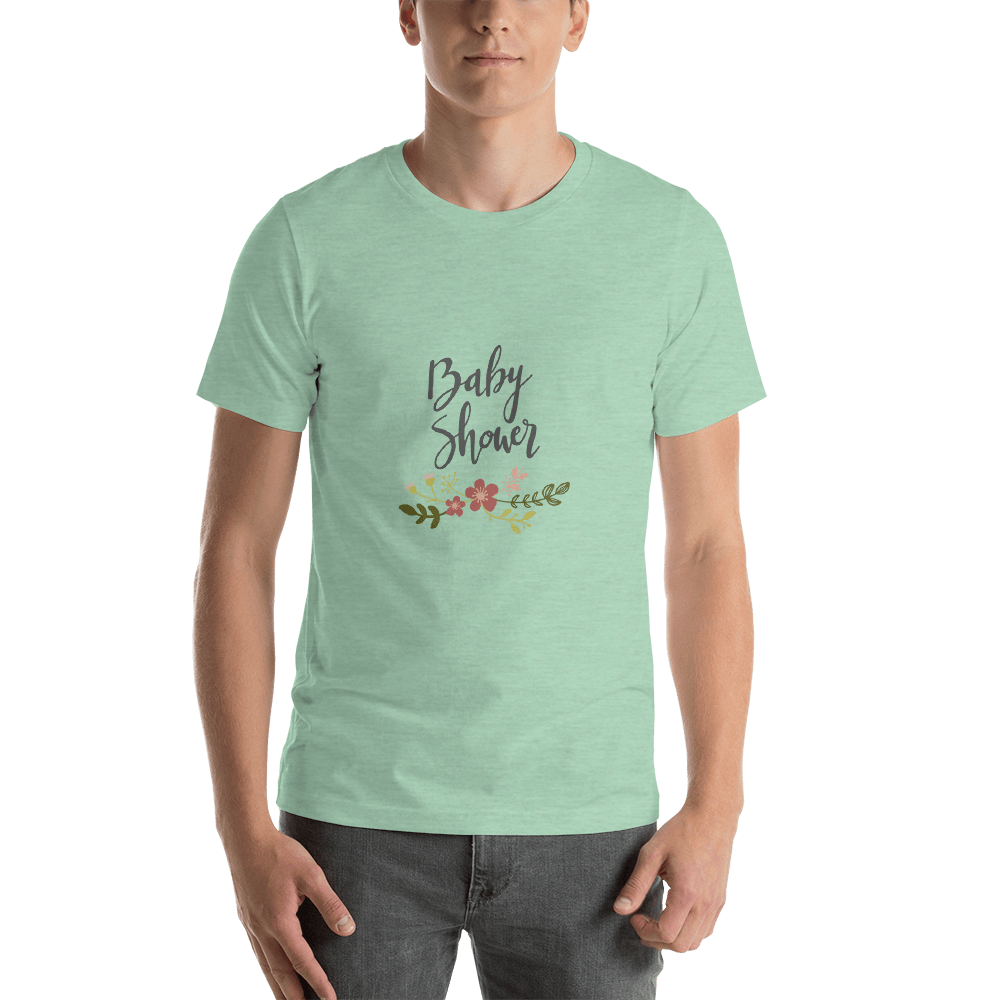 baby shower Men Short-Sleeve T-Shirt Marks'Marketplace Heather Prism Mint XS