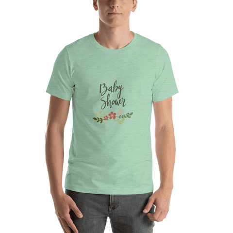 Image of baby shower Men Short-Sleeve T-Shirt Marks'Marketplace Heather Prism Mint XS