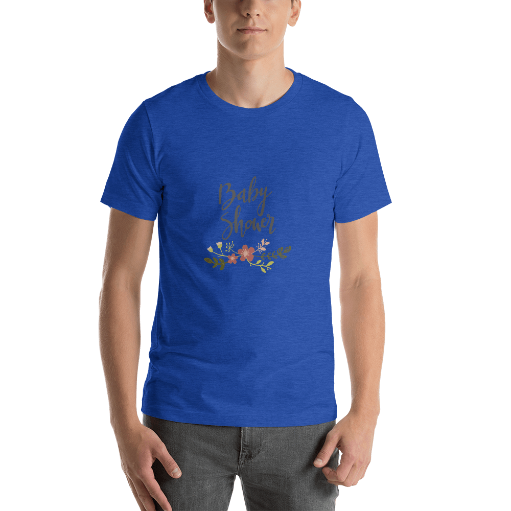 baby shower Men Short-Sleeve T-Shirt Marks'Marketplace Heather True Royal S