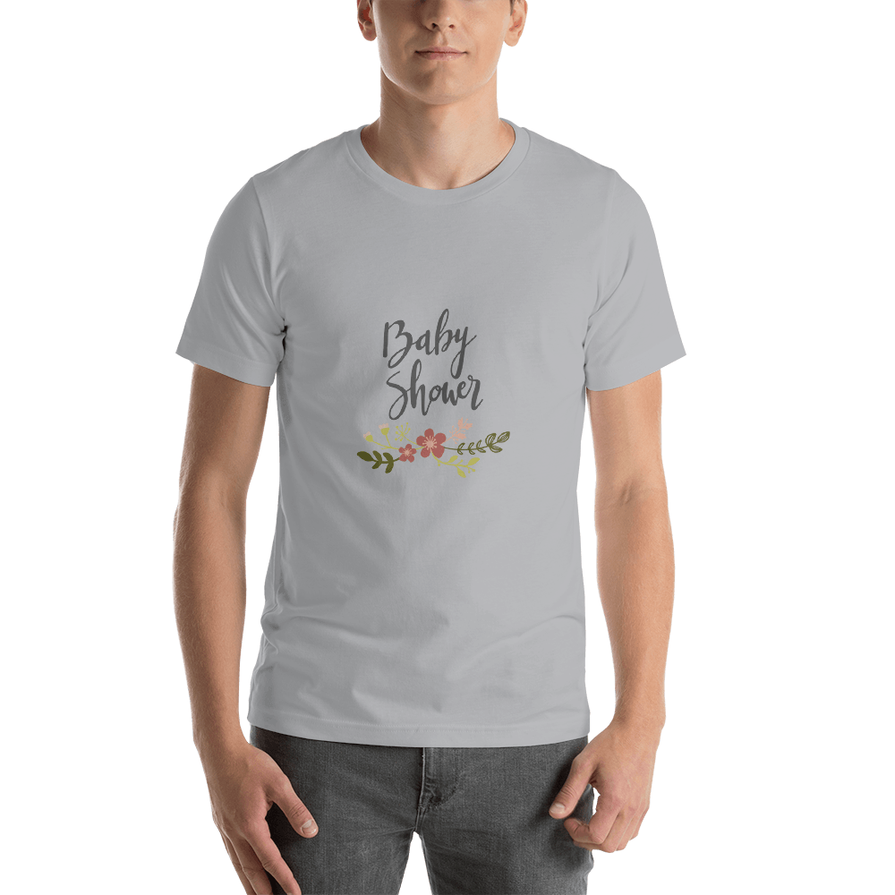 baby shower Men Short-Sleeve T-Shirt Marks'Marketplace Silver S