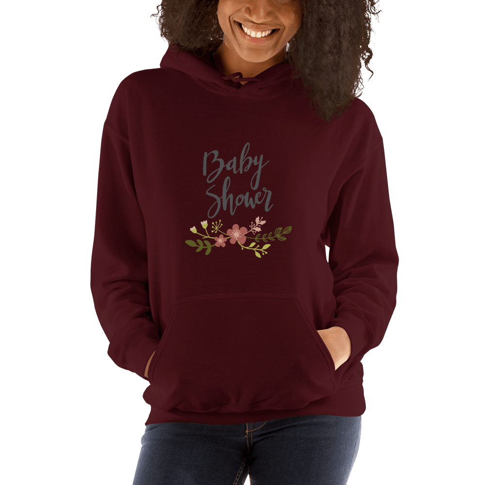 baby shower Women Hooded Sweatshirt Marks'Marketplace Maroon S